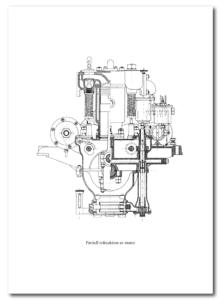 Partiell tvärsektion av motor