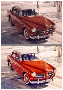 Foto före och efter med Volvo