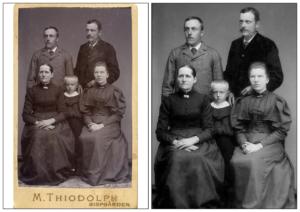 Foto före och efter med familjen Herkules